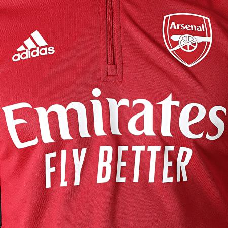 adidas - Sweat Col Zippé Arsenal GR4188 Bordeaux