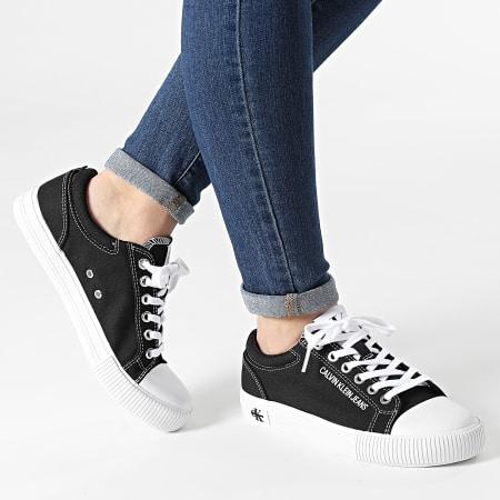 Calvin Klein Jeans - Baskets Femme Vulcanized Sneaker Lace Up 0042 Black