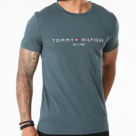 Tommy Hilfiger - Tee Shirt Tommy Logo 1797 Gris Bleu