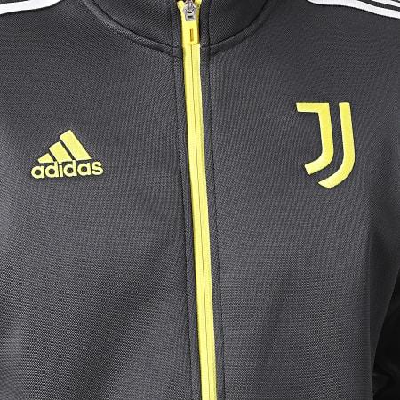 adidas - Veste Zippée A Bandes Juventus GR2916 Gris Jaune