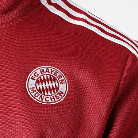 adidas - Veste Zippée A Bandes FC Bayern GR0676 Bordeaux