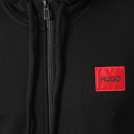 HUGO By Hugo Boss - Sweat Zippé Capuche Daple 212 50447972 Noir