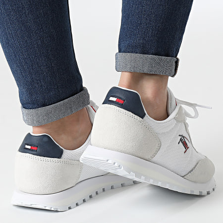 Tommy Jeans - Baskets Femme Casual Runner 1419 Red White Blue