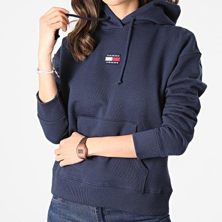 Tommy Jeans - Sweat Capuche Femme Center Badge 0403 Bleu Marine