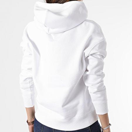 Tommy Jeans - Sweat Capuche Femme Center Badge 0403 Blanc