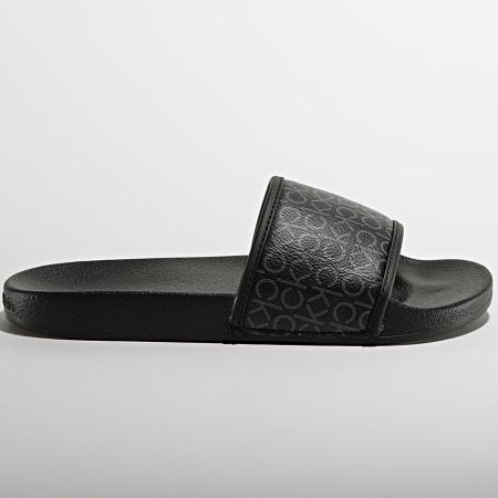 Calvin Klein Jeans - Claquettes Femme Pool Slide 0557 Black Mono