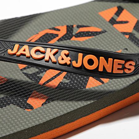 Jack And Jones - Tongs Print Logo 12184307 Vert Kaki