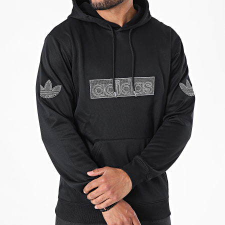 adidas - Sweat Capuche Logo H06741 Noir