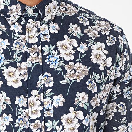Jack And Jones - Chemise Manches Longues Blasummer Bleu Marine Blanc Floral