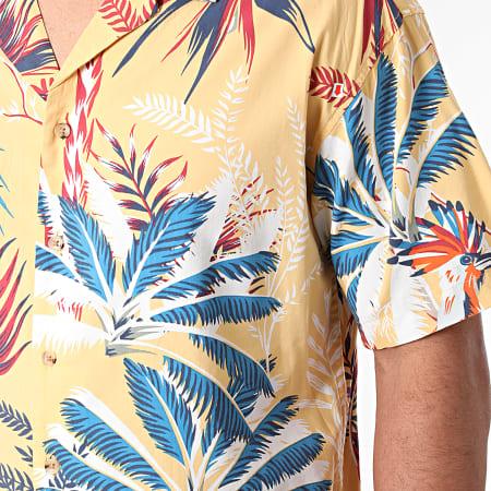 Jack And Jones - Chemise Manches Courtes Tropicana Resort Jaune Floral