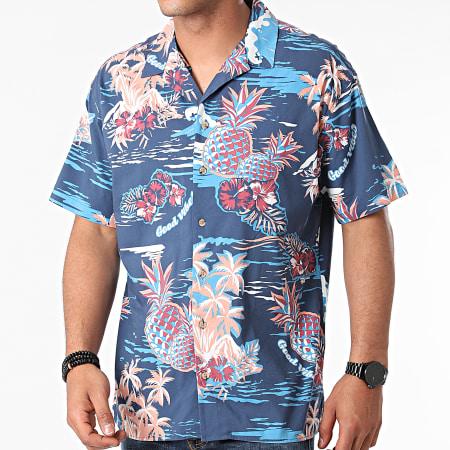 Jack And Jones - Chemise Manches Courtes Tropicana Resort Bleu Marine Floral