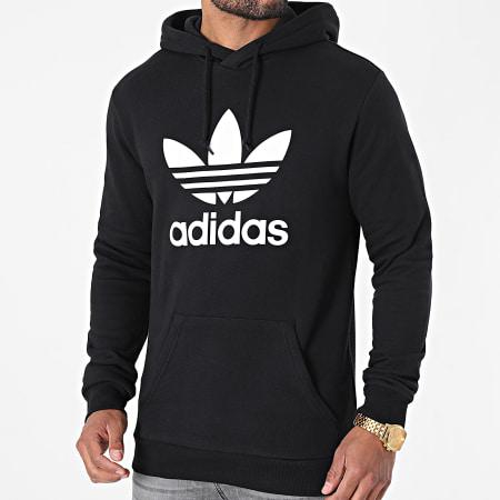 adidas - Sweat Capuche Trefoil H06667 Noir