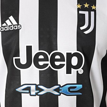 adidas - Tee Shirt De Sport A Rayures Juventus GS1442 Blanc Noir