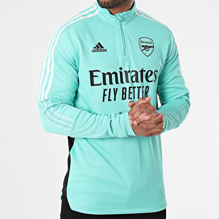adidas - Sweat Col Zippé Arsenal GR4188 Vert Clair