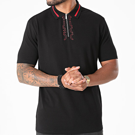 HUGO By Hugo Boss - Polo Manches Courtes 50456803 Noir Rouge