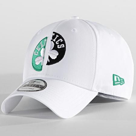 New Era - Casquette 9Forty Half Half 60137633 Boston Celtics Blanc