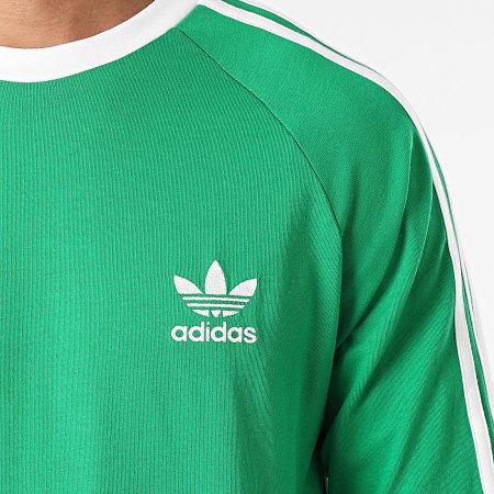 adidas - Tee Shirt Manches Longues A Bandes 3 Stripes H37778 Vert