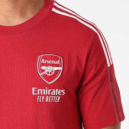 adidas - Tee Shirt A Bandes Arsenal FC GR4173 Rouge
