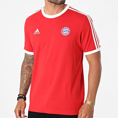 adidas - Tee Shirt De Sport A Bandes FC Bayern GR0687 Rouge