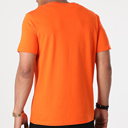 Parental Advisory - Tee Shirt Logo Orange Noir