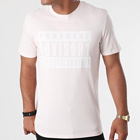 Parental Advisory - Tee Shirt Logo Rose Pastel