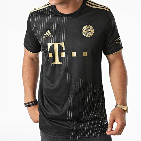 adidas - Tee Shirt De Sport A Bandes FC Bayern GM5317 Noir Doré