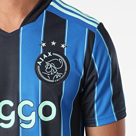 adidas - Tee Shirt De Sport A Rayures Ajax GT7130 Bleu Roi Bleu Marine