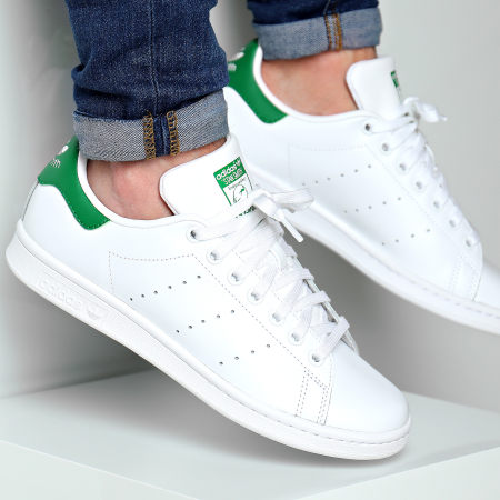 adidas - Baskets Stan Smith FX5502 Footwear White Green ...