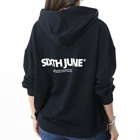 Sixth June - Robe Sweat Capuche Femme 32606 Noir