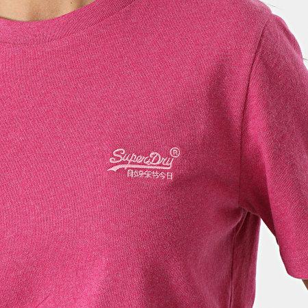 Superdry - Tee Shirt Femme Orange Label Violet