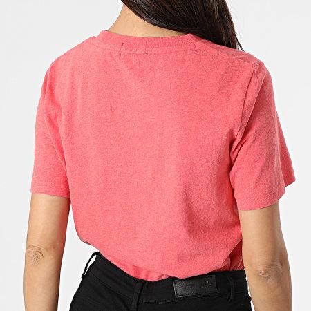 Superdry - Tee Shirt Femme Orange Label Corail