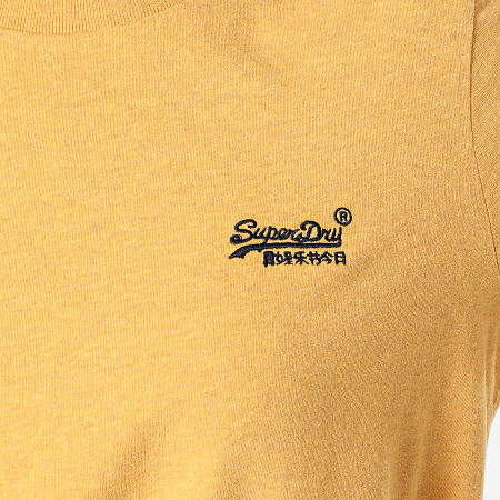 Superdry - Tee Shirt Femme Orange Label Jaune