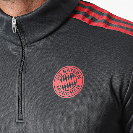 adidas - Tee Shirt Manches Longues A Bandes FC Bayern Munich GR0671 Gris Anthracite