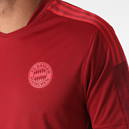 adidas - Tee Shirt De Sport A Bandes FC Bayern GR0657 Bordeaux