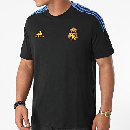 adidas - Tee Shirt A Bandes Real Madrid GR4345 Noir