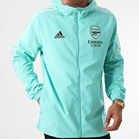 adidas - Veste Zippée Capuche A Bandes Arsenal FC GR4143 Vert Clair