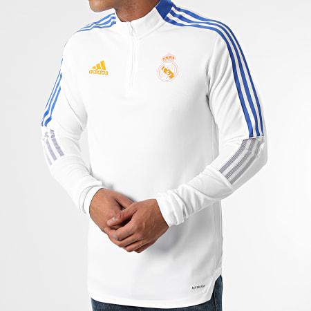 adidas - Tee Shirt Manches Longues A Bandes Real Madrid GR4328 Ecru