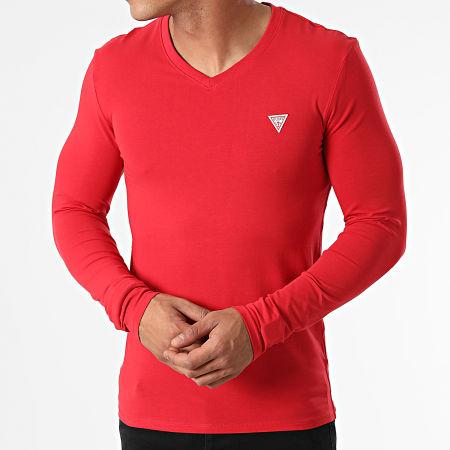 Guess - Tee Shirt Manches Longues M1RI08-J1311 Rouge