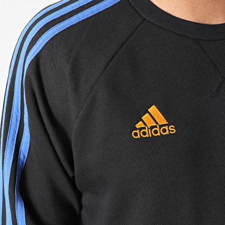 adidas - Sweat Crewneck A Bandes Real Madrid GU9706 Noir