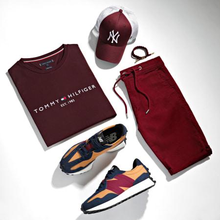 Tommy Hilfiger - Tee Shirt Tommy Logo 1797 Bordeaux