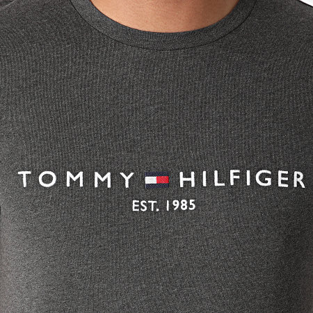 Tommy Hilfiger - Tee Shirt Logo 1797 Gris Anthracite Chiné