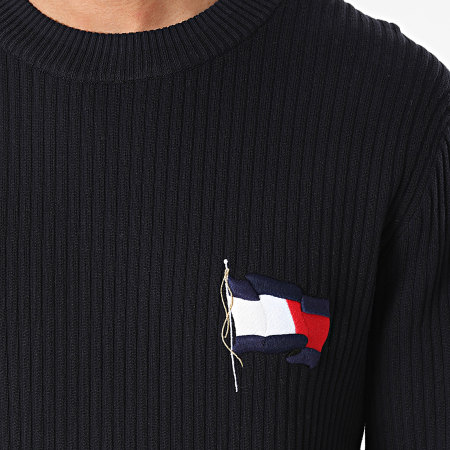 Tommy Hilfiger - Pull Wavy Flag Graphic 6558 Bleu Marine