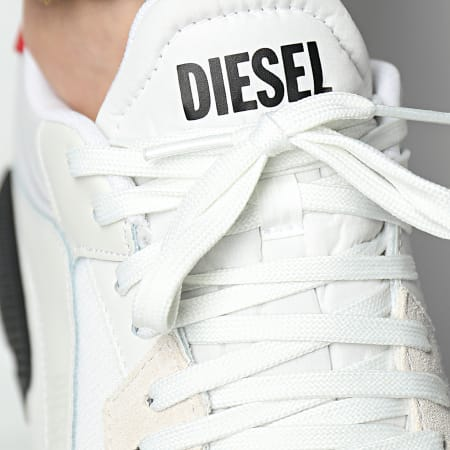 Diesel - Baskets S-Tyche Low Cut Y02635-P4198 Star White Racing Red