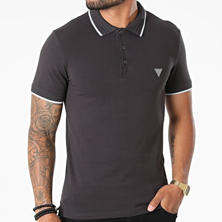 Guess - Polo Manches Courtes M1YP66-J1311 Gris Anthracite