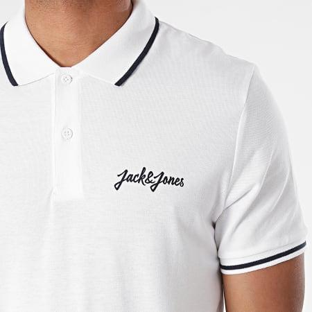 Jack And Jones - Polo Manches Courtes Tristans Blanc