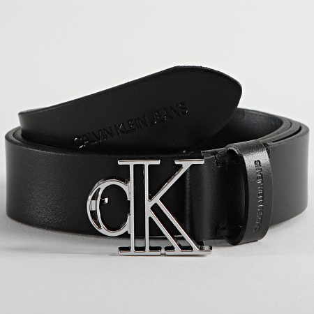 Calvin Klein - Ceinture Femme Outline Mono Plaque 8290 Noir