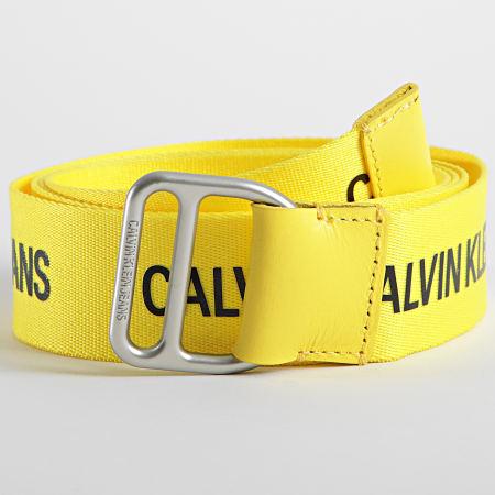 Calvin Klein Jeans - Ceinture Slider Webbing Belt 7064 Jaune