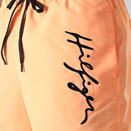 Tommy Hilfiger - Short De Bain Medium Drawstring 2060 Orange Fluo