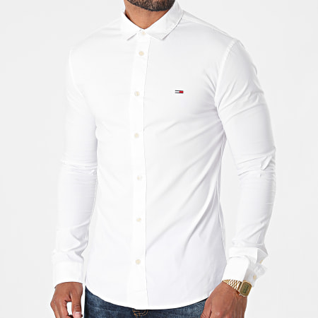 Tommy Hilfiger - Chemise Manches Longues Skinny Solid 9699 Blanc