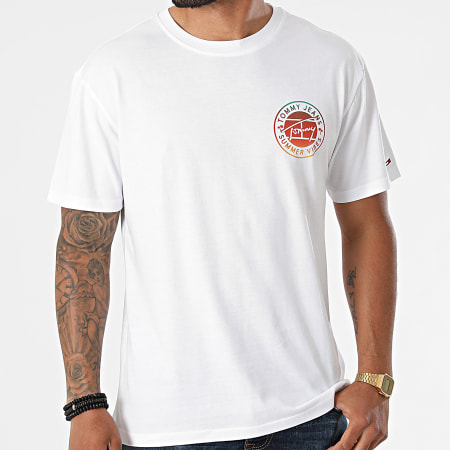 Tommy Jeans - Tee Shirt Circular Graphic 0892 Blanc